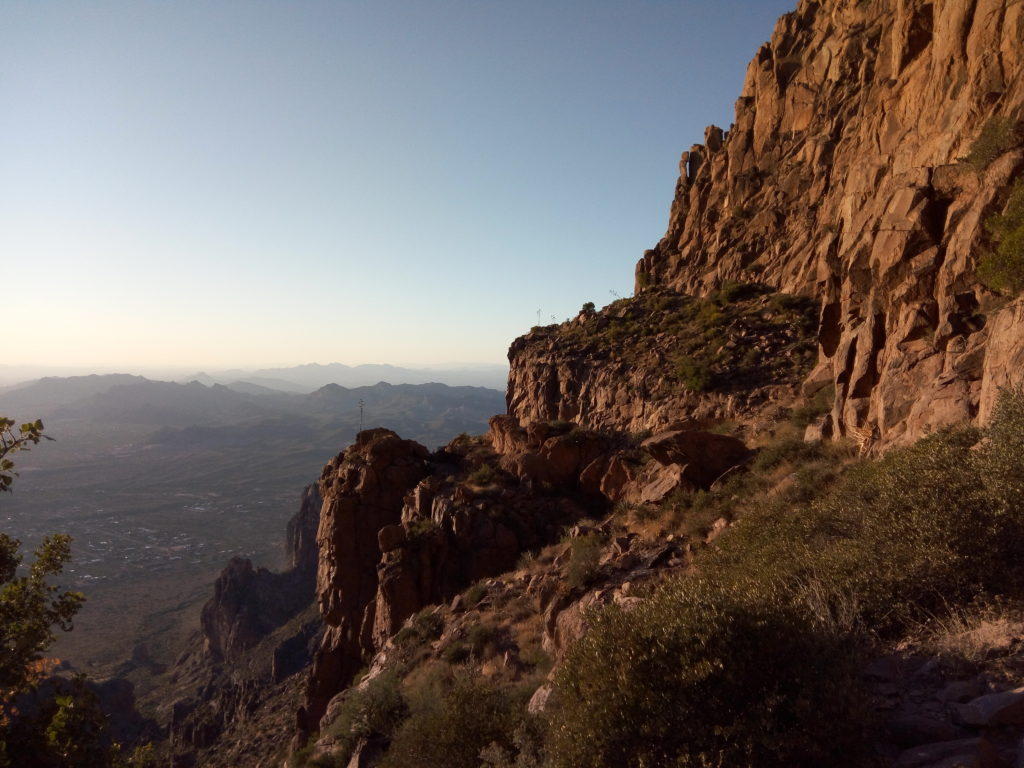 Setting Sun on Superstition Mountains