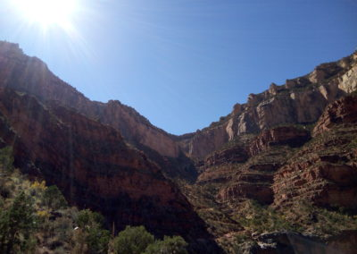 Sunny Skies on the Bright Angel Trail