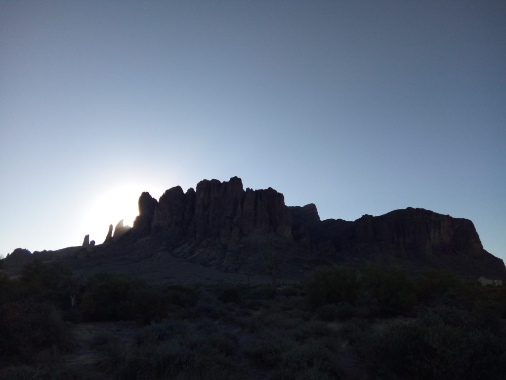 Sunrise over the Superstition Mountains