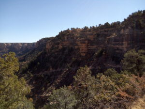 Top portion of Bright Angel Trail