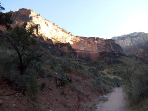 heading back up Bright Angel Trail