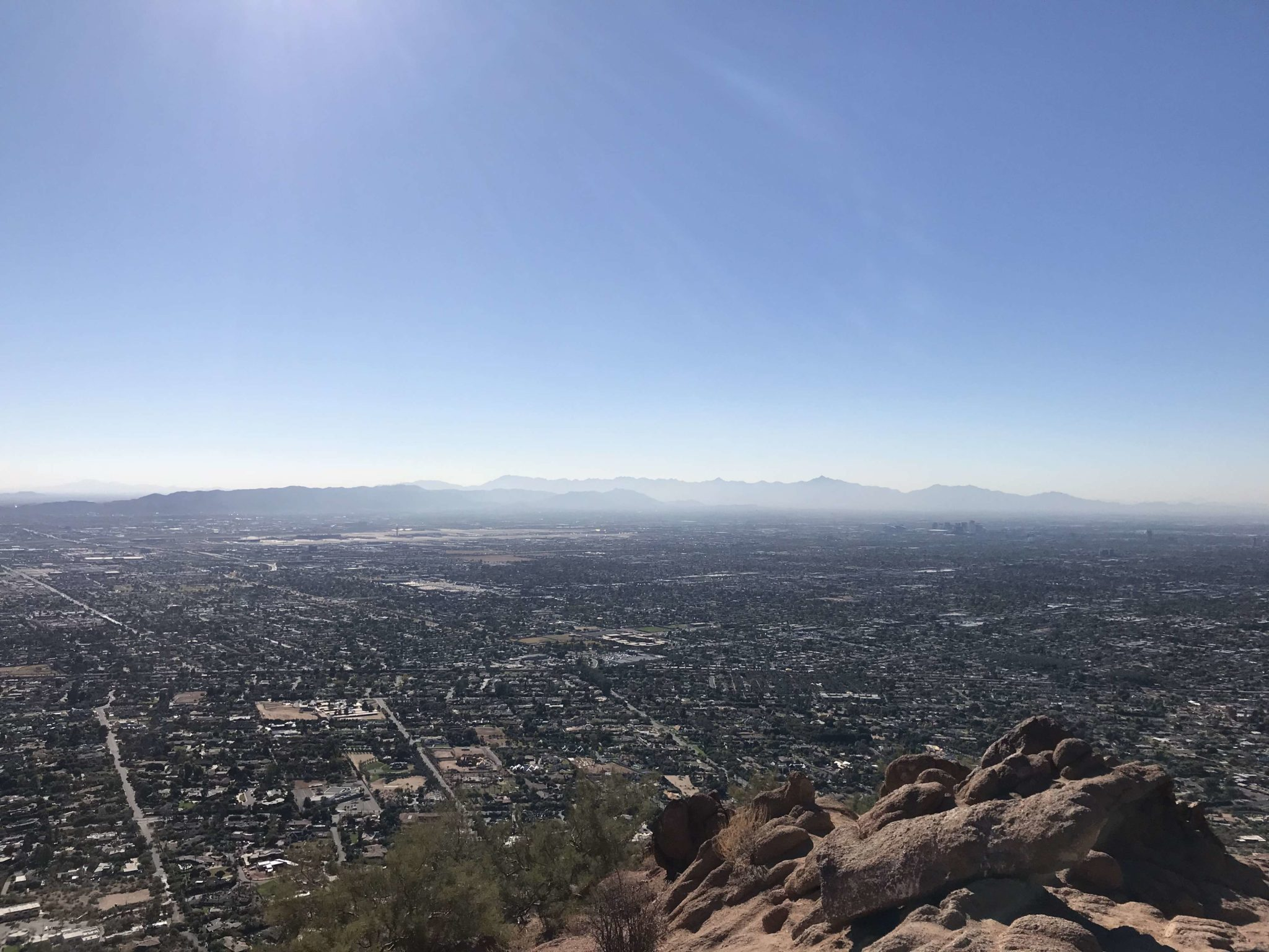 Downtown Phoenix from Camelback