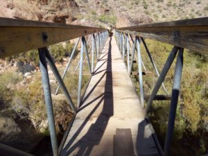 Ribbon Falls Bridge Grand Canyon