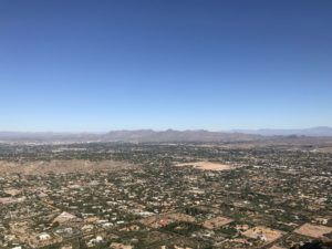 View of Scottsdale from Camelback