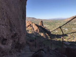 View of stairs on Echo Canyon